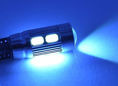 2x Crystal Blue Car LED SMD CREE Canbus W5W 501 Parking Light Bulbs T10.