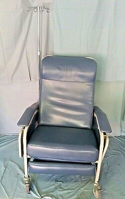 Winco 654, Care Cliner Patient Recliner Medical Chair w/ Side Tables