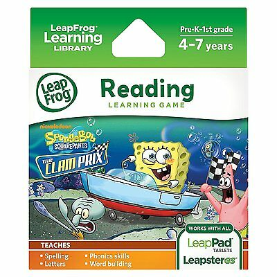 LeapFrog SpongeBob SquarePants: The Clam Prix Learning Game works with LeapPad