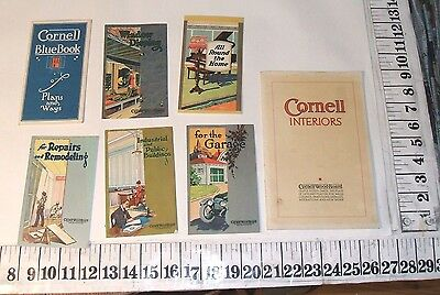 1920s CORNELL WOOD PRODUCTS HOME BUILDING CATALOG BROCHURES LOT
