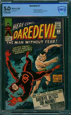 Daredevil # 7  Daredevil Battles Sub-Mariner !  CBCS 5.0 scarce book !