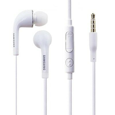 NEW Lot of 2 Genuine OEM White Samsung Earphones Headset with Inline Controls