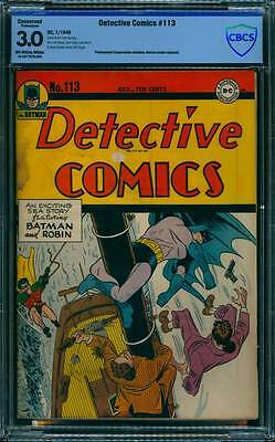 Detective Comics # 113 An Exciting Sea Story ! CBCS 3.0 scarce Golden Age book !