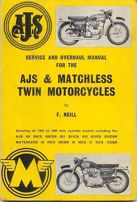 AJS & Matchless Twin Motor Cyles All models 1955-1965 Service & Overhaul 1970