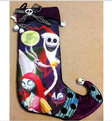 Santa Jack Skellington & Sally Nightmare Before Christmas NBC Disney Stocking