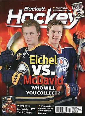 November, 2015 Beckett Hockey Monthly #279 Price Guide Collectible