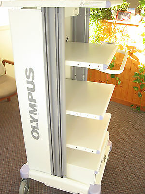 Olympus 5 Shelf Medical Cart Mobile With Monitor