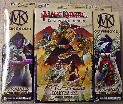 WizKids Mage Knight - Dungeons Pyramid 2x Booster + 1 Starter Box (Mint)