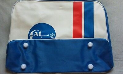 Vintage 1960's China Airlines Carry On Travel Flight Bag/Tote with adj. Strap