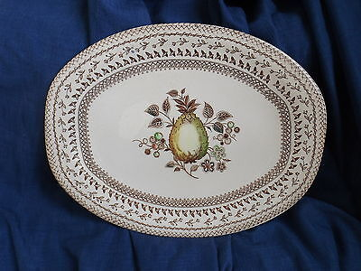 Vintage Johnson Brothers Fruit Sampler Oval Serving Platter or Plate