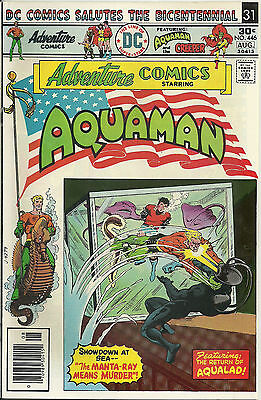 Adventure Comics #446 (DC Comics, Aug 1976) Aquaman 9.0 VF/NM