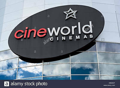 2 cineworld E code IMAX 3D or 4DX or DBOX movies