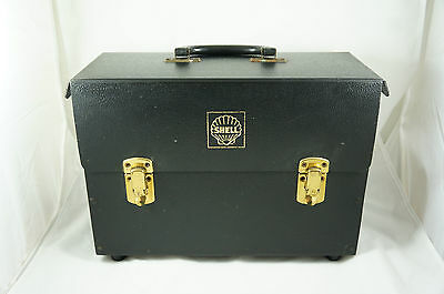 Vintage Shell Oil plastic portable file holder / cabinet, c. 1960s