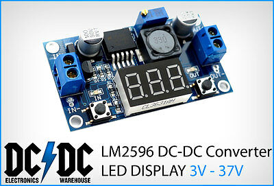 LM2596 DC-DC Adjustable Step-Down Power Supply LED Display