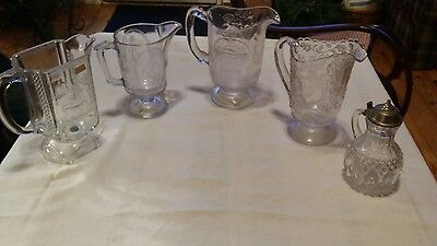 antique fenton pitchers lot sale