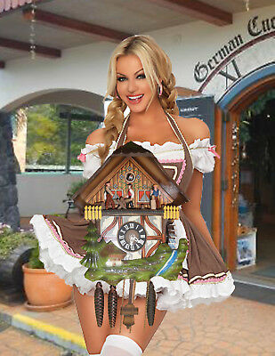 German made Vintage  Musical Woodchopper 1 Day Cuckoo Clock CK2049