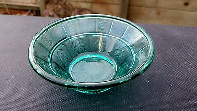"Teal Ultramarine Doric & Pansy 4½"" Berry Bowl"