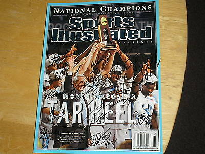 2009 UNC Basketball Team Signed Championship Sports Illustrated 2017 SPECIAL