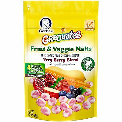 Gerber Graduates Fruit and Veggie, Melts Very Berry Blend, 1 Ounce Pack of 7