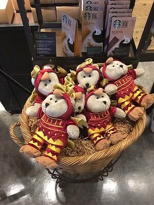 New China 2017 Starbucks Chinese New Year Of The Rooster Bearista Bear