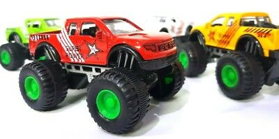 New Real Look Pull Back Monster Truck Off Road Speed Series Toy Set