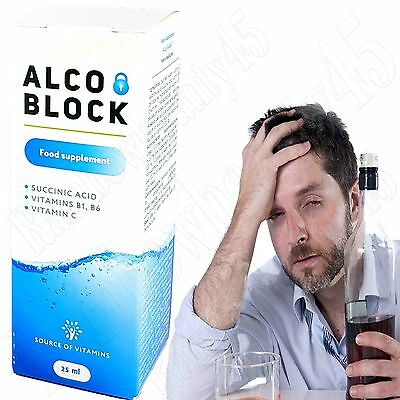 Alcohol block Anti Hangover Detoxifier healthy Liver effect alcohol syndrom 25ml