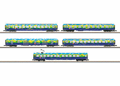 "Märklin 87303 Z Gauge passenger car Set 2 ""Tourist train""DB AG # in #"