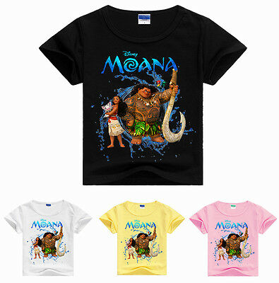 Kids Boy Girl Toddler New Moana Summer Cotton Short Sleeve T-shirt Children