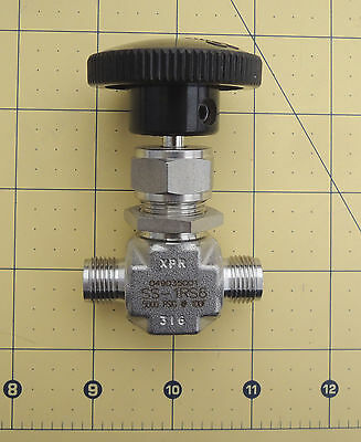 Swagelok SS-1RS6 Stainless Steel Integral Bonnet Needle Valve, 0.73 Cv, 3/8""