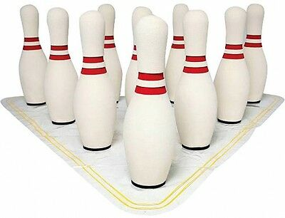 Sportime UltraFoam Bowling Pin Set With Set Up Mat, 15'