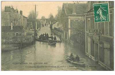 (Ph) New Cpa 78 Conflans-Sainte-Honorine * Route De Conflans A Andresy * In