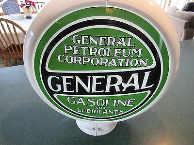 ORIGINAL 1910 - 40's GENERAL GAS GLOBE LENS GENERAL PETROLEUM CORP. VERNON CA.