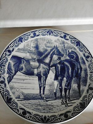 "Delfts Blauw Charger/plate 15"" Blue With Horses"