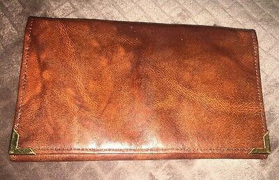 Vintage Classic 50/60s Wallet Purse Brown  Leather  Old Used Worn Retro Montana
