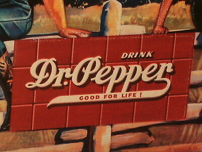 COWGIRLS - shows DR PEPPER Sign on the Fence -- OLD SIGN Dated 1994 DALLAS TEXAS