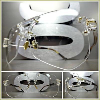 New CLASSIC VINTAGE RETRO Style Clear Lens EYE GLASSES Rimless Transparent Frame