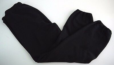 VINTAGE 90s JERZEES jogger sweatpants mens 2XL black pants track MADE IN USA