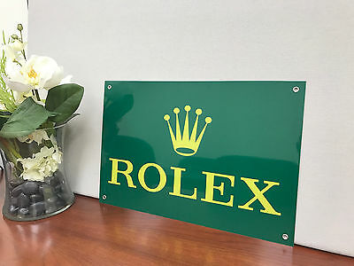 Rolex watches advertising sign vintage reproduction large12x18 baked