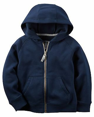 Carters Infant Boys Navy Zip-Up Hoodie NWT zipper hooded jacket sweatshirt