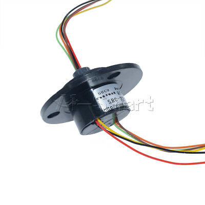 250Rpm 6 Wires 6 Conductors Capsule Compact Slip Ring 220V AC  CCTV Monitor 22mm