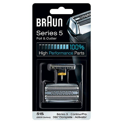 Braun 51S Series 5 Electric Shaver Replacement Foil and Cutter – Silver New Uk