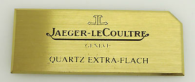 Original JLC Jaeger Le Coultre Uhren Quartz Schild Display Messing 3x7,5cm sg043