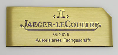 Original JLC Jaeger Le Coultre Fachgeschäft Schild Display Messing 6x16cm  sg045