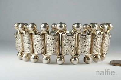 ANTIQUE ENGLISH VICTORIAN PERIOD SILVER BOOKCHAIN STYLE BRACELET c1880