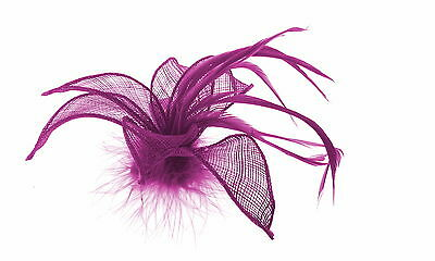 Viola Fascinator& Piume, Clip Fascinator Matrimoni, Ballo