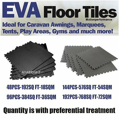 768SQ FT Interlocking Eva Soft Foam Mat Exercise Play Gym Floor Mat Non-Slip UK