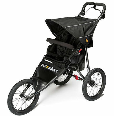 New Out n about nipper sport V4 pushchair raven black & raincover pre order