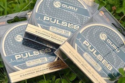 Guru Pulse 8 Braid Mainline 150m NEW Coarse Match Fishing Braid *All Sizes*
