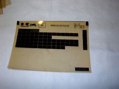 Kawasaki Ar50 Ar 50 C2/c3/c4/c5 Gen Part Catalogue Microfiche