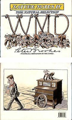 Nature Notes IV The Natural Selection Peter Brookes 2004 Politics Cartoon Signed
